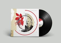 Off Record on Behance #album #leaf #montage #noa #geometric #record #vinyl #illustration #stain #vintage #music #joy #collage #emberson