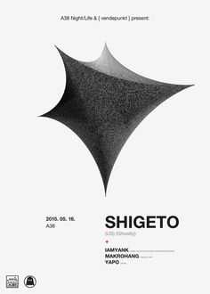 Shigeto / poster / A #flyer #shigeto #minimal #poster #ghostly #helvetica