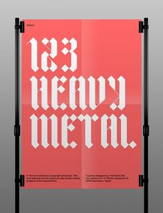 TP DURO font on the Behance Network #type #gothic #poster #typography