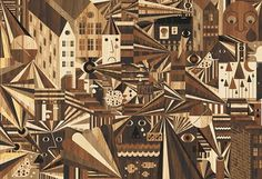 Fubon Gallery : LOVERS TOWN #wood #illustration #geometric