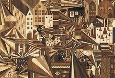 Fubon Gallery : LOVERS TOWN #wood #illustration #geometric