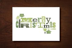 Marta Harding Designs #christmas #wood #type
