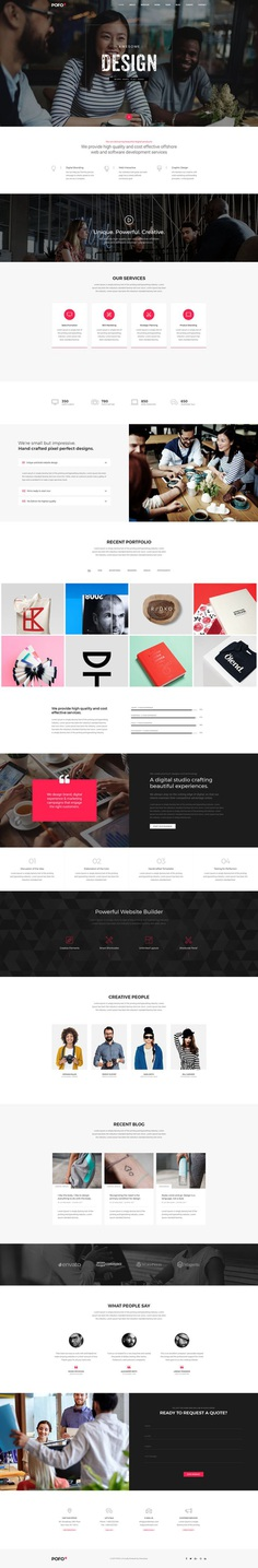 Pofo - #Creative #Portfolio and #Blog #WordPress Theme for #Onepage website by #ThemeZaa