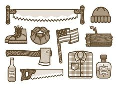 Lumber jack icons #nick #slater #icons #manly