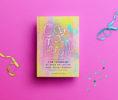 Carnaval on Behance #carnaval #carnival #typography #color #flyer #poster #party