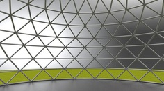 geodesic dome large dome frame structure 3d model obj mtl 3ds dxf 3dm dwg 4