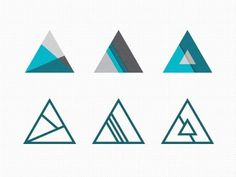 Dribbble - Tri Explorations by Mackey Saturday #icon #design #triangles
