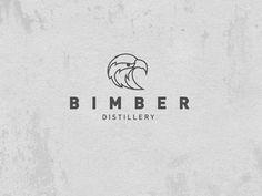 Bimber Distillery #worn #polish #branding #design #graphic #distillery #logo #typographic #brand #eagle #identity #grey #type #animal #typography