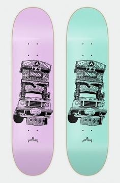 Snowblinded™ - Airwalk Jingle Truck Skateboard Deck #skateboard #illustration #line #art