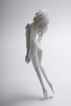 paper-person #silouette #sculpture #paper