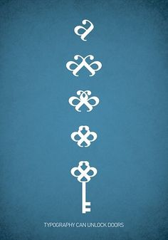 All sizes | Typowall ♠The Key / nøkkelen | Flickr - Photo Sharing! #type #illustration #poster #typography