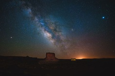 Mars captured in Monument Valley by Abdul Dremali