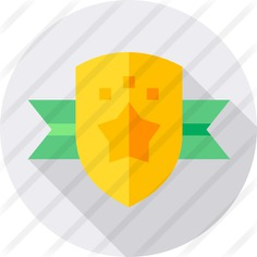 See more icon inspiration related to sports and competition, insignia, reward, emblem, badge, award and medal on Flaticon.