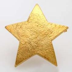 GÜNTER KRAUSS star brooch