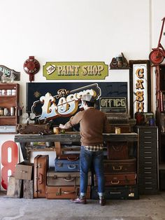 Paint shop sign