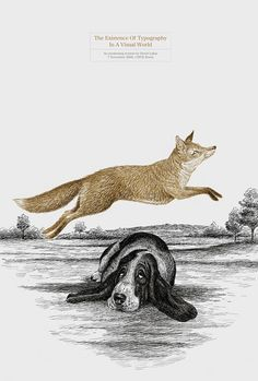 The quick brown fox jumps over the lazy dog… | typetoken® #fox #illustration #brown #quick #typography