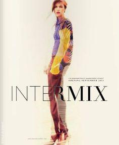 Stylesight | Intermix F/W 11 #layout #typography