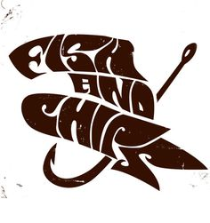 Fish and chips #lettering