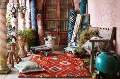 tufted moroccan rug boho inspired textiles