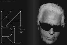 Network Osaka > Portfolio > Haute #karl #black #typography