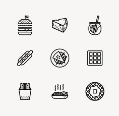PIK NIK on Behance #icons #food