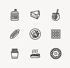 PIK NIK on Behance #icons #food