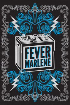 FM Battery Screen Print By  Rev Pop #milwaukee #print #design #screen #poster #music #marlene #band #fever