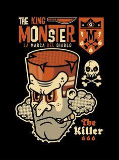 THE KING MONSTER 666 on Behance #vector #devil #illustration #monster #666 #killer