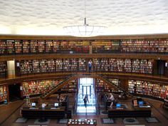 Stockholm Public Library #libraries #bookcases #interiors #architecture