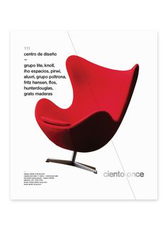 Ciento7 #typography #helvetica #minimal #modern #layout #furniture #red #chair #lines