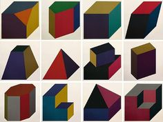 lovefuckingly: Sol Lewitt ever so pretty (form derived from a cube) #art