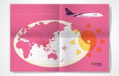Maps #globe #lab #map #thai #illustration #airways #partners