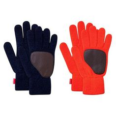 Winter Gloves #red #wool #gloves #leather #fashion #blue