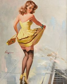 Pin-up Paintings by Gil Elvgren | Cuded #gil #pin #elvgren #up #paintings