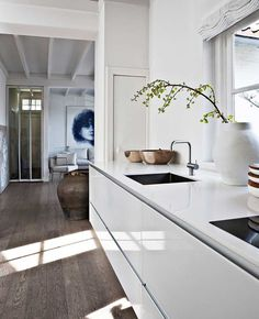 White kitchen. Photo by Morten Holtum. #kitchen #minimal