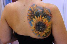 45 Inspirational Sunflower Tattoos #sunflower #tattoos