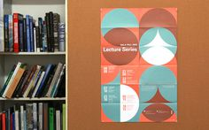 SALA Fall 2013 Lecture Series poster #graphic design #poster #shape #color #lecture series #sala