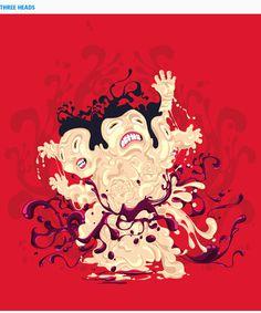 Threadless #erdokozi #red #heads #erik #splash
