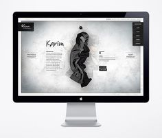 Website / Kiss by Fiona Bennett on the Behance Network #design #interface #layout #web #fullscreen