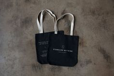 Standard Nothing Tote #tote #white #concrete #branding #monoline #black #logo #furniture #identity #bag