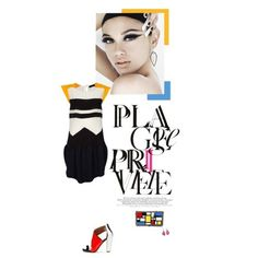 busy blocks, a mondrian inspire #collage creation by chen on #polyvore #fashion #art #colorblock