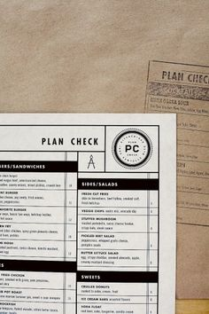 [EAT] Plan Check Bar // Los Angeles, CA. « b for bonnie #menu