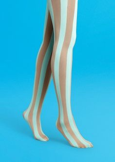 Vertical Stripe Tights #color