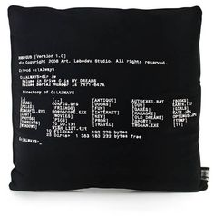 MS-DOS Pillow | Shiro to Kuro