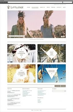 Littledoe on Web Design Served #website #grid #layout #design