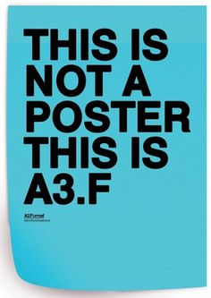 THIS IS NOT A POSTER THIS IS A3.F by: Filip Bojović - RS | Flickr - Photo Sharing! #swiss #legacy #grid #poster #helvetica