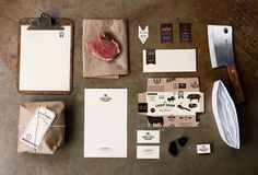 Chop Shop #branding #logos #brown #paper #butcher