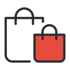 See more icon inspiration related to bag, shopping bag, shopping, online shop, supermarket, shopper, commerce, online store and commerce and shopping on Flaticon.
