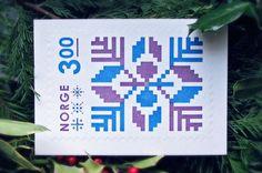 Gavin Potenza — Norge Stamp #stamp #potenza #design #letterpress #graphic #gavin