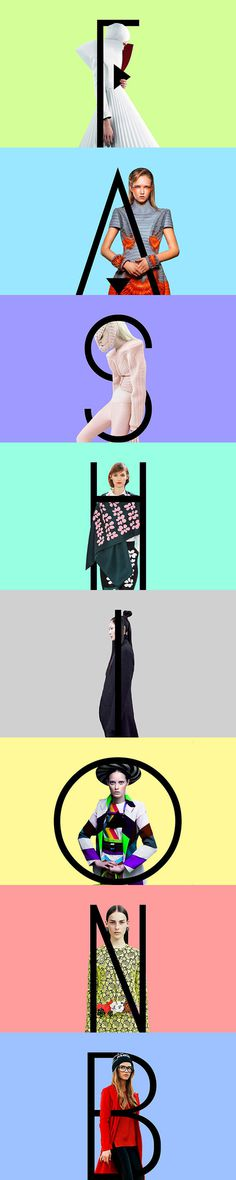 Typographic composition of brand name and visuals. #typography #fashion